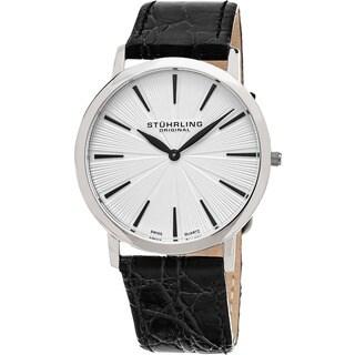 Stuhrling Original Men's Swiss Quartz Orchestra Leather Strap Watch