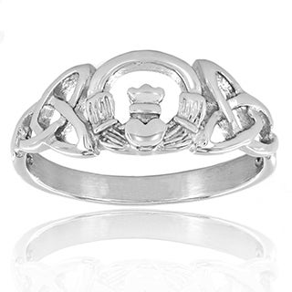 Stainless Steel Celtic Trinity Knot Claddagh Ring