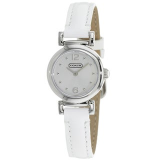 Coach Women's 14501692 Madison White Leather Watch