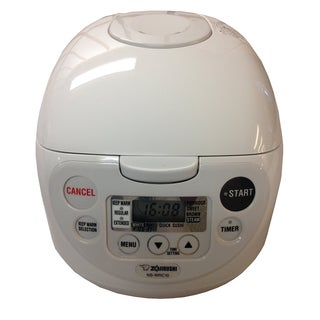 Zojirushi NS-WPC10 5.5-Cup Rice Cooker & Warmer - White