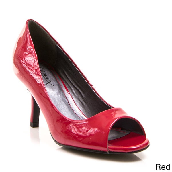 Gomax Women's 'Dinner At 8' Patent Open-toe Pumps