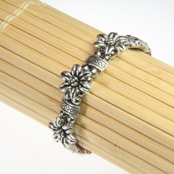 Tibetan Silver Three Flower Bracelet (China)
