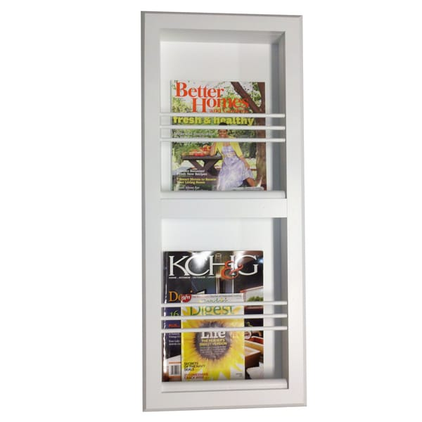Key West Series 9 Recessed Double Magazine Rack