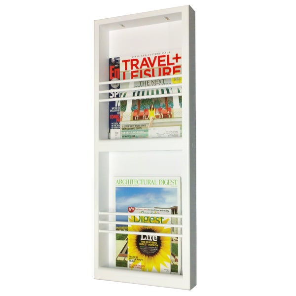 Key West Series Surface Mounted Double Magazine Rack