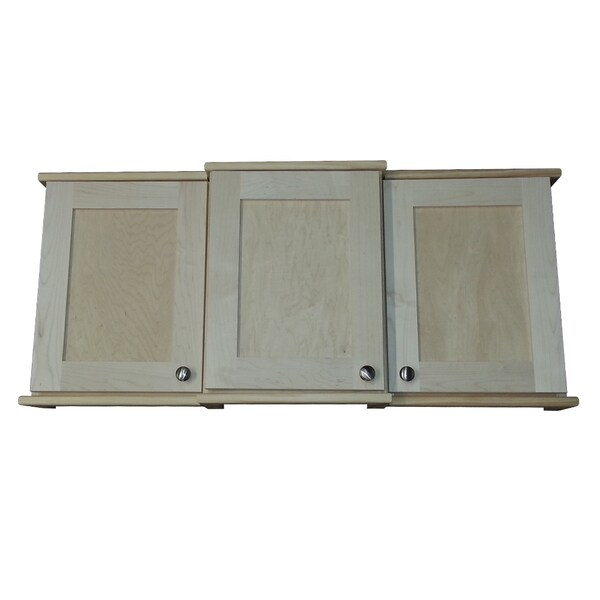 Gulfport Series OF3-363636-2.5d-3.5d Offset 3 Cabinet