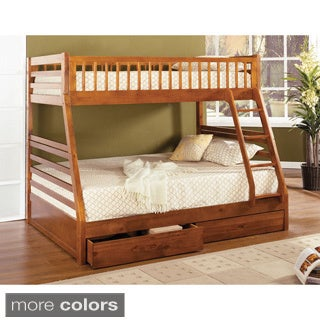 Spring Creek Twin-over-full Bunk Bed with Two Drawers