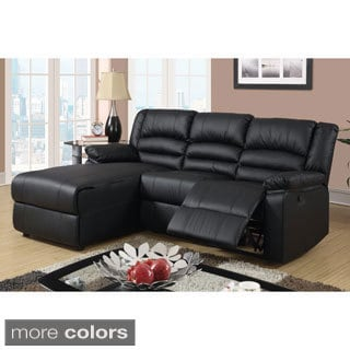 Creteil Bonded Leather Loveseat Recliner with Left Chaise