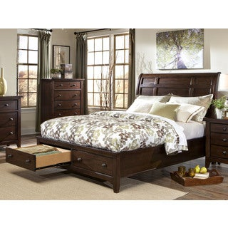Intercon Jackson Solid Wood Storage Sleigh Bed