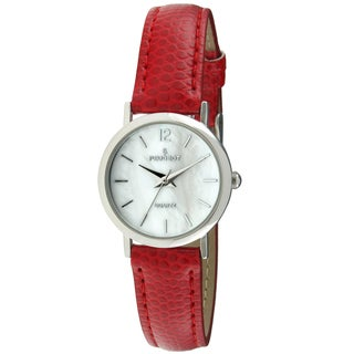 Peugeot Women's 3030RD Classic Red Leather Watch