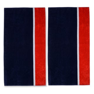 Superior Oversized Bay Cotton Jacquard Beach Towel (Set of 2)