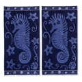 Superior Collection Oversized Seahorse Cotton Jacquard Beach Towel (Set of 2)
