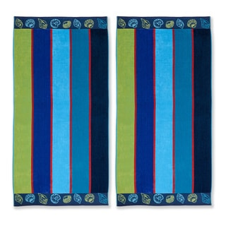 Superior Oversized Sea Shell Cotton Jacquard Beach Towel (Set of 2)