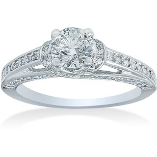 Bliss 14k White Gold 1ct TDW Diamond Engagement Ring (G-H, I1-I2)