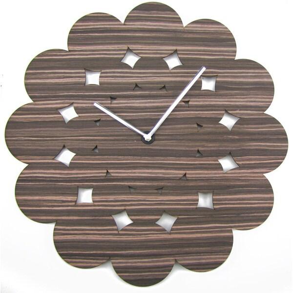 HSN Modern Mid-century 19-inch Wood Clock