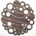 Modern Mid-century 20-inch Wood Clock