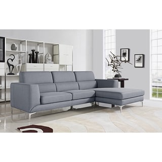 Xena Light Grey Modern Sectional Sofa Set