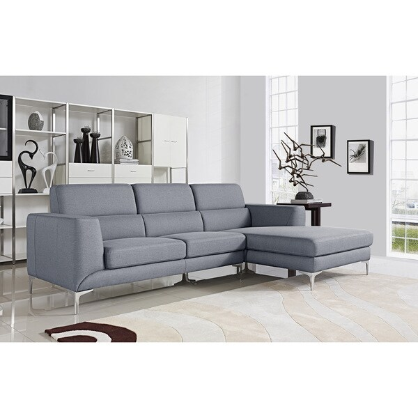 Xena canada for Light grey sectional sofa canada