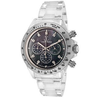 ToyWatch Women's 8001BKP Clear Chronograph Watch