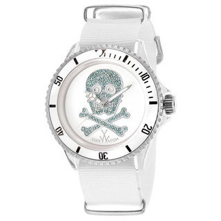 ToyWatch Women's S05WHLB White Canvas Watch