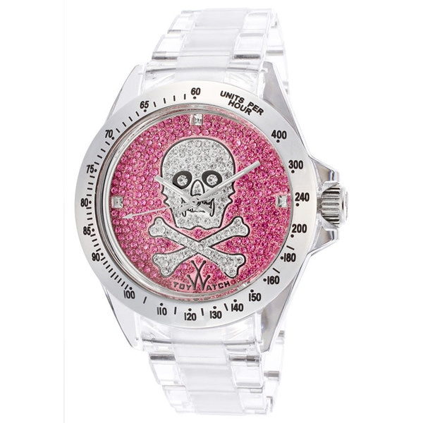 ToyWatch Women's S10WHOSP Clear/ Pink Watch