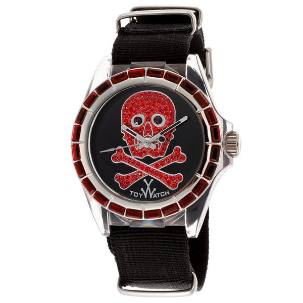 ToyWatch Women's SB02BK Black/ Red Polycarbonate and Canvas Watch