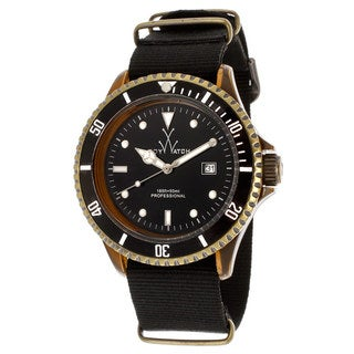 ToyWatch Men's FCD03BZ Black Polycarbonate and Canvas Watch