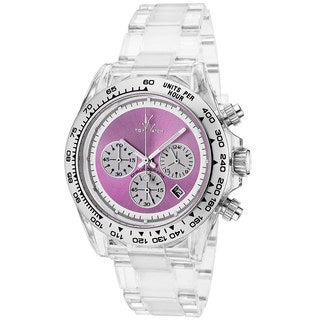 ToyWatch Women's 7004PRP Clear Lilac Polycarbonate Watch