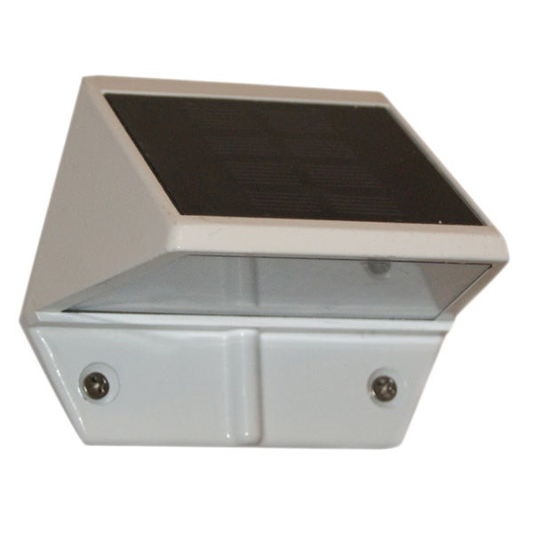 White Solar Deck and Wall Light (Set of 2)