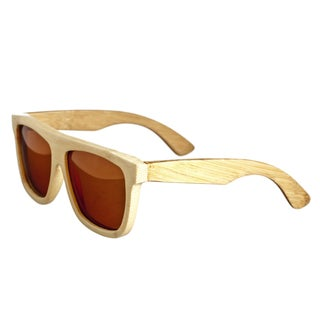 Earth 'Imperial 031b' Brown Lens Wooden Sunglasses
