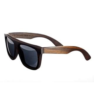 Earth 'Imperial 031e' Black Lens Bamboo Wood Sunglasses