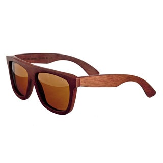 Earth 'Imperial 031r' Brown Lens Wood Sunglasses