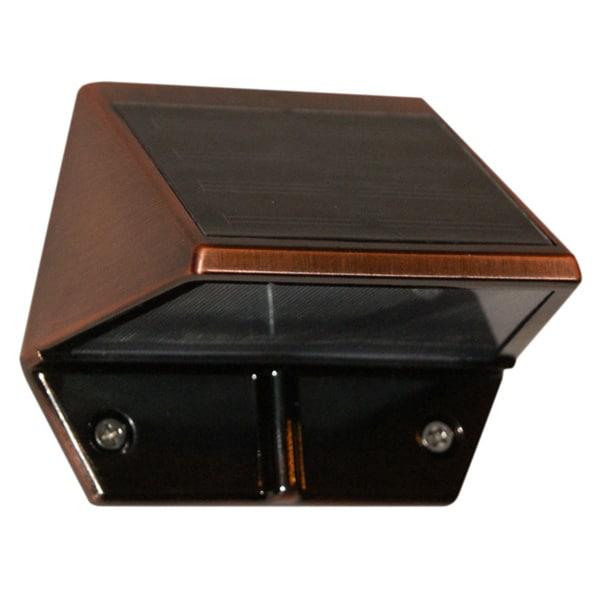 External Solar Wall Lights : Copper Solar Deck and Wall Lights (Set of 2) - 16449397 - Overstock.com Shopping - Great Deals ...