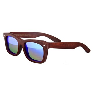Earth Unisex 'Portsmouth 502r' Wood Square Sunglasses
