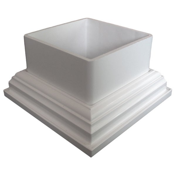 White 5x5-inch PVC Adapter (Set of 2)