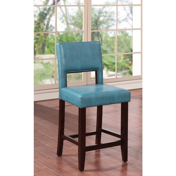 Linon Vega Agean Blue Counter Stool