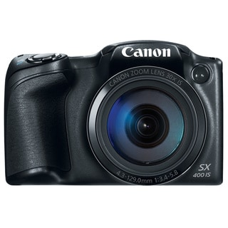 Canon SX400 IS 16MP Black Digital Camera