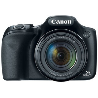 Canon SX520 HS 16MP Black Digital Camera