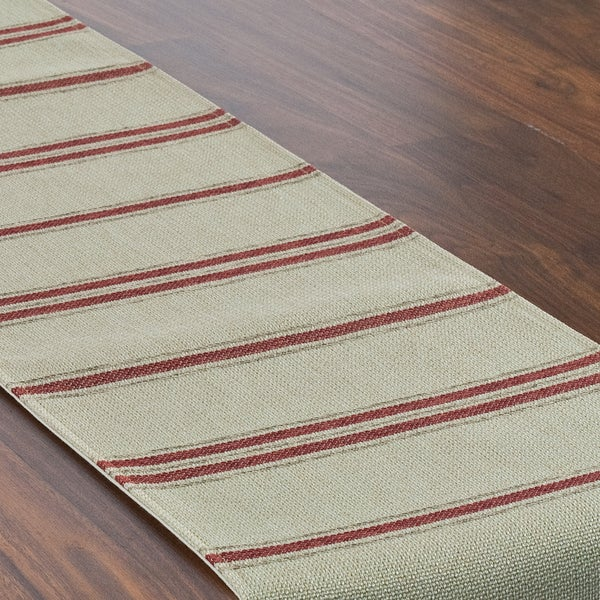Rafting Pearl Lined Table Runner