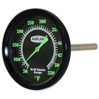 Man Law BBQ Series Grill/ Smoker Thermometer with Glow in the Dark Dial
