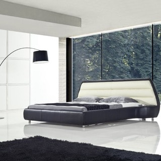 Duetto Modern Eco-leather Wrapped Platform Bed