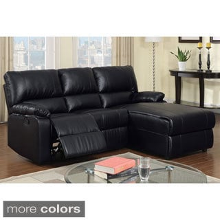 Calvi Bonded Leather Sectional Recliner
