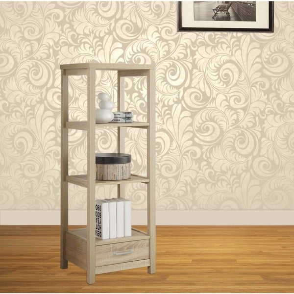 Linon Aspen Blonde Single-drawer TV Tower