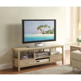 Linon Aspen Blonde Two-drawer TV Stand