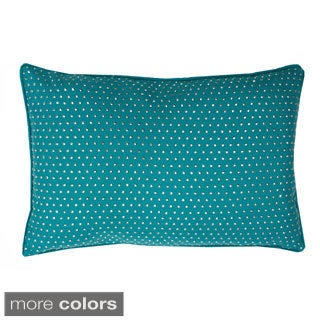 Angelica All-over Studded Feather-filled Throw Pillow