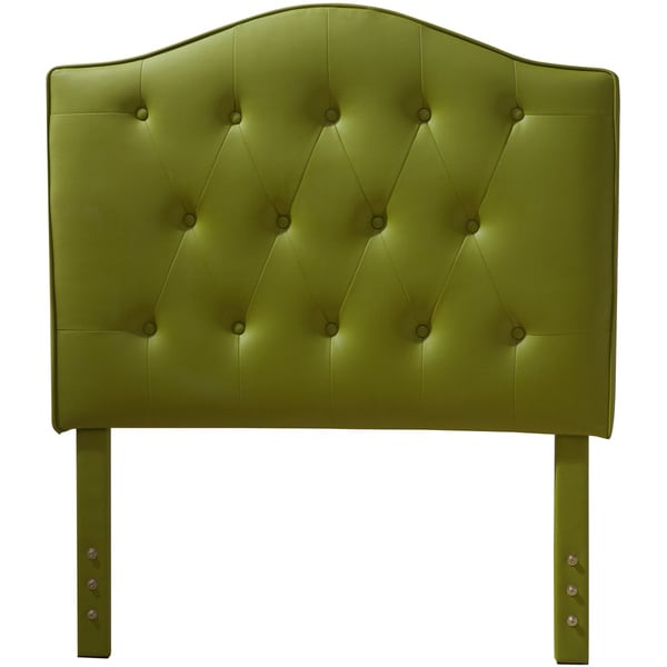 Luxury Comfort Collection Lime Green Faux Leather Button Tufted Twin-size Headboard