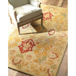 nuLOOM Hand-tufted Traditional Wool Gold Rug (5' x 8')