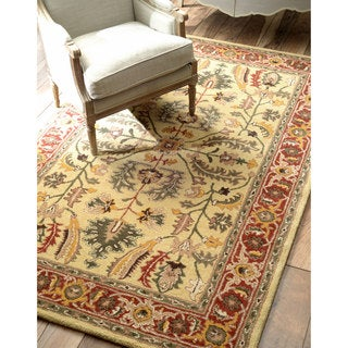 nuLOOM Hand-tufted Traditional Wool Sunflower Rug (8' x 10')