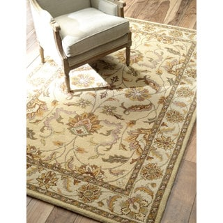 nuLOOM Hand-tufted Traditional Wool Beige Rug (8' x 10')