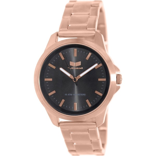 Vestal Men's Heirloom HEI3M09 Rose Goldtone Stainless Steel Watch