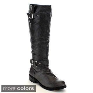 Mark & Maddux Women's 'Travis-01' Knee-high Riding Boots